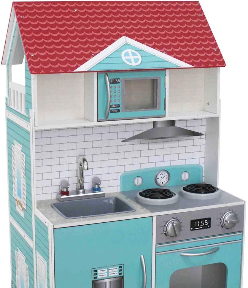 Cocina y Casa de muñecas de madera 2 en 1 ColorBaby detalle cocina