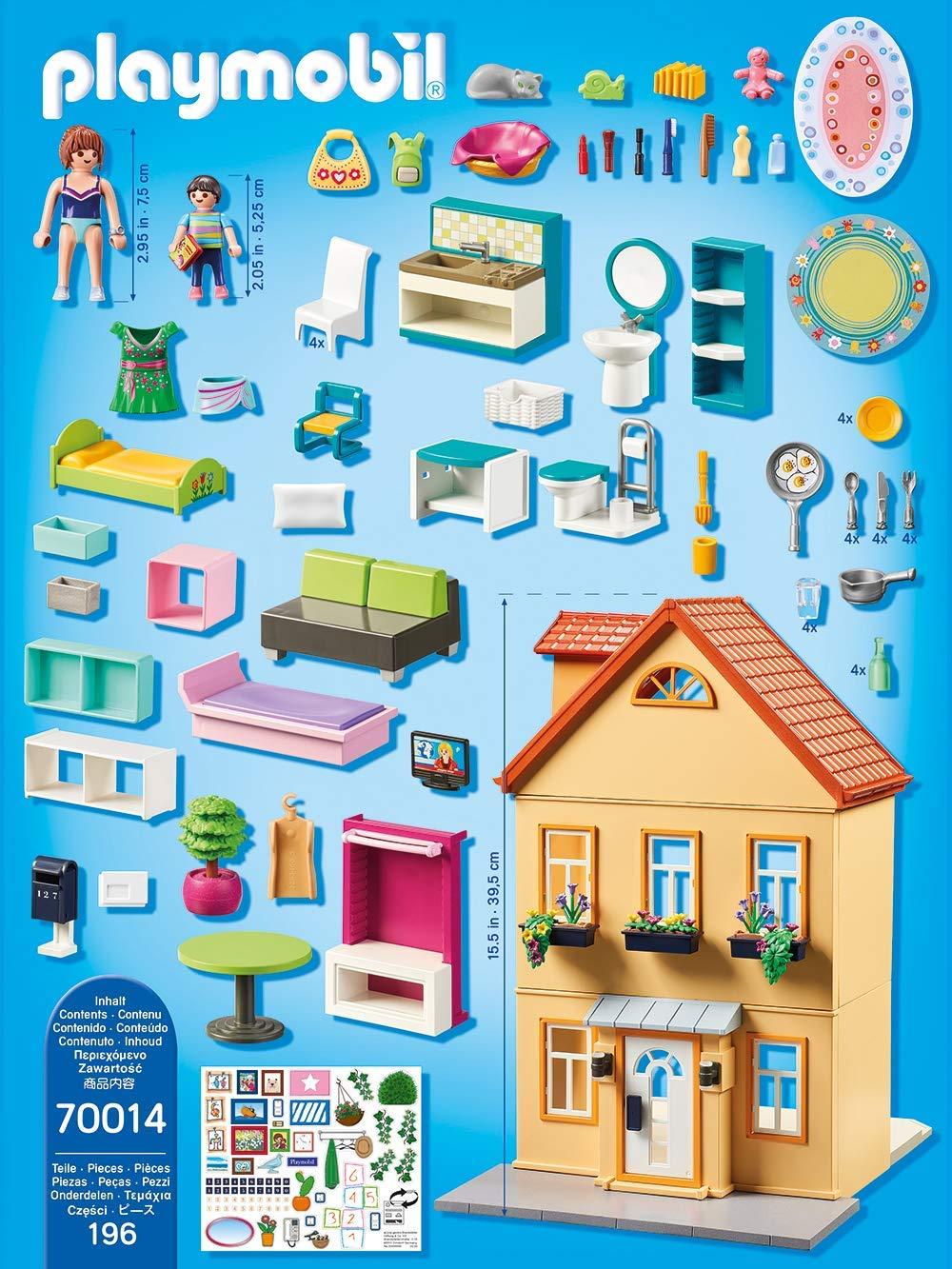 Mi casa de cuidad PLAYMOBIL City Life 70014, contenido incluido