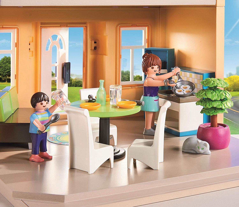 Mi casa de cuidad PLAYMOBIL City Life 70014 detalles cocina