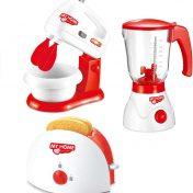 Pack 3 utensilios eléctricos de cocina de juguete deAO My home life (batidora, tostadora y licuadora)
