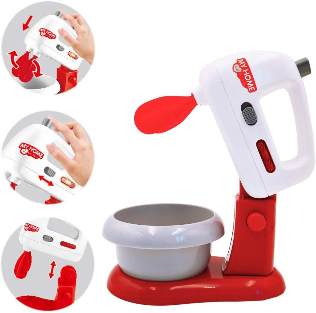 Pack tres utensilios eléctricos de cocina de juguete deAO My home life batidora