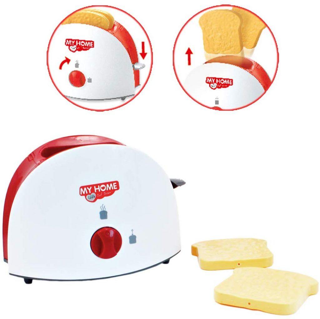 Pack tres utensilios eléctricos de cocina de juguete deAO My home life tostadora