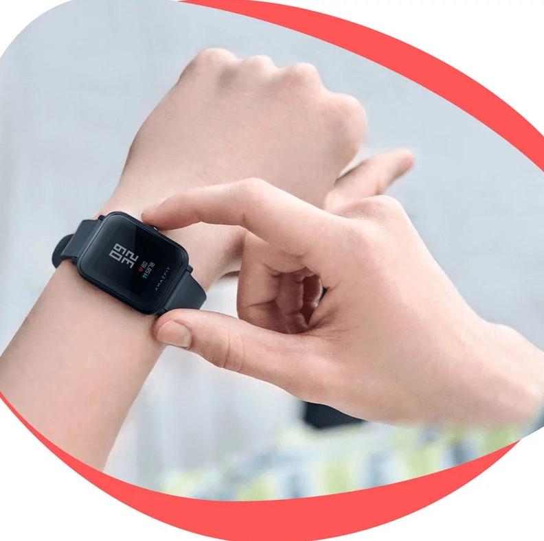 Reloj smartwatch Amazfit Bip Lite color negro