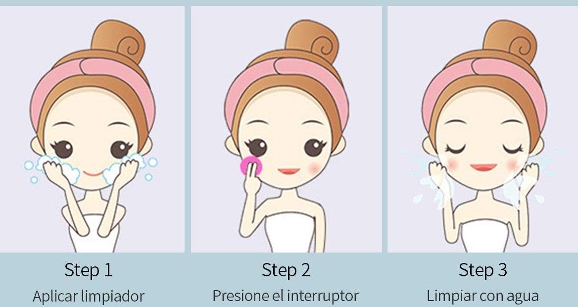 Cepillo facial de silicona Ckeyin., como usar