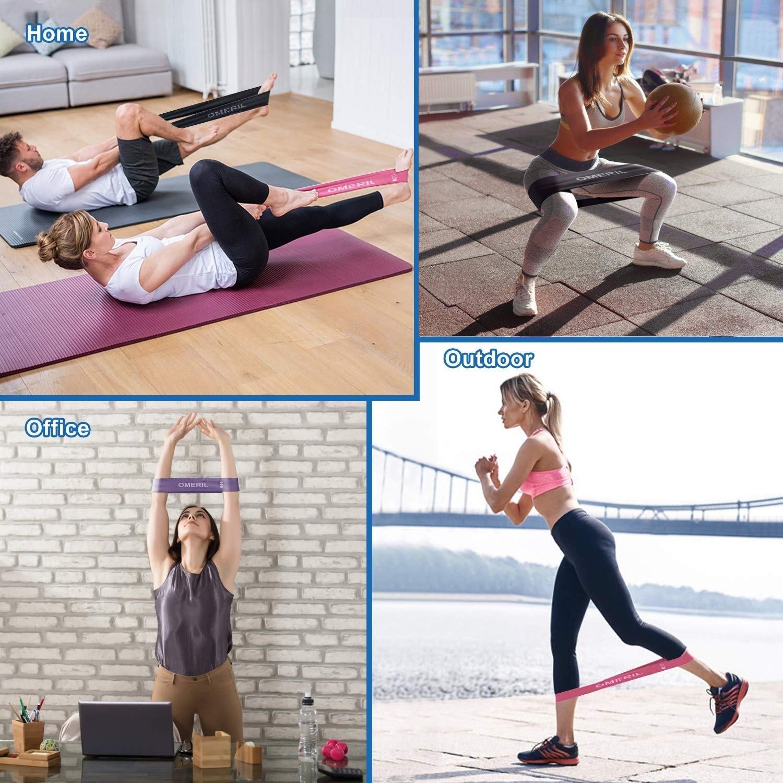 Pack 4 bandas de resistencia elásticas OMERIL, múltiples ejercicios