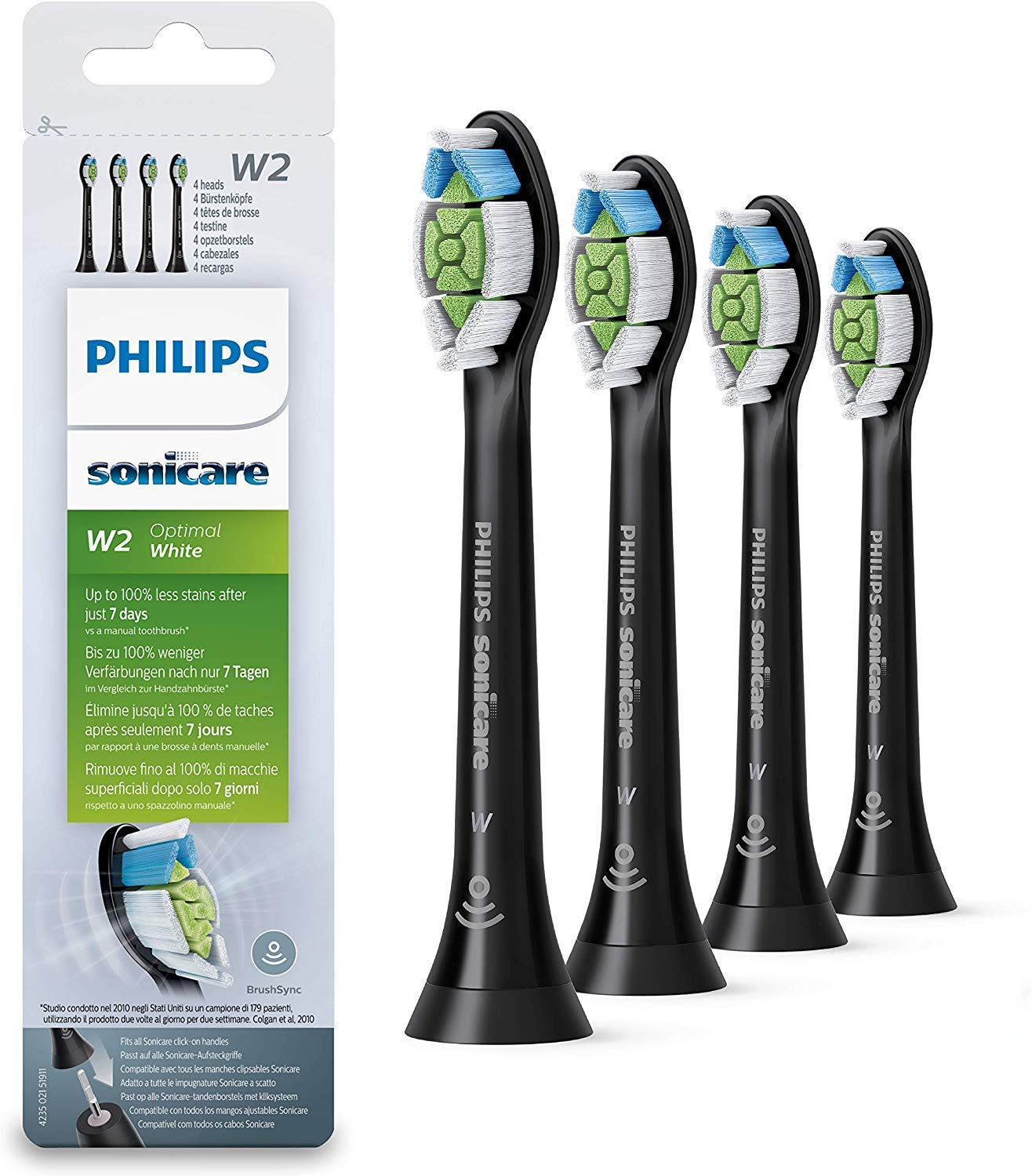 Pack 4 cabezales Optimal White para cepillos Sonicare