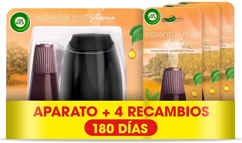 Pack difusor de aceites esenciales con 4 recambios Air Wick Essential Mist