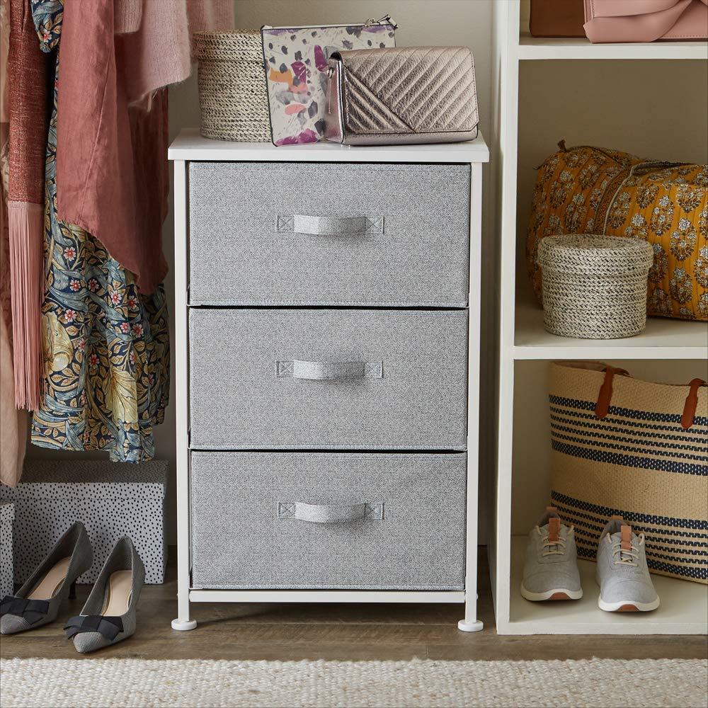 Mueble de almacenaje con 3 cajones AmazonBasics blanco