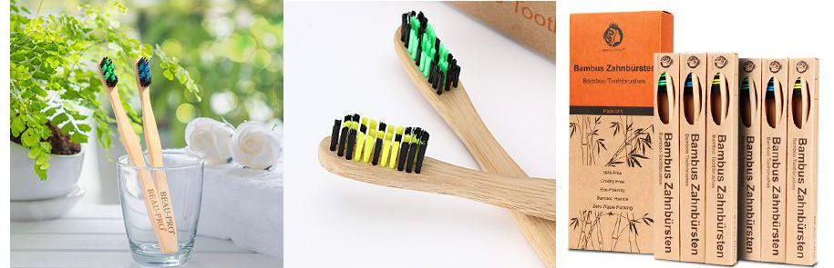 Pack cepillos de dientes de bambú
