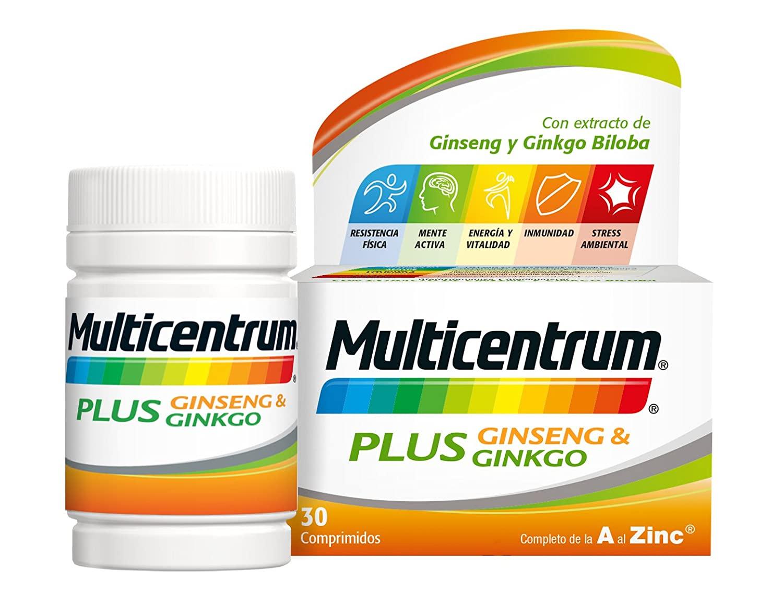 Multicentrum Plus Ginseng y Ginkgo con 30 comprimidos