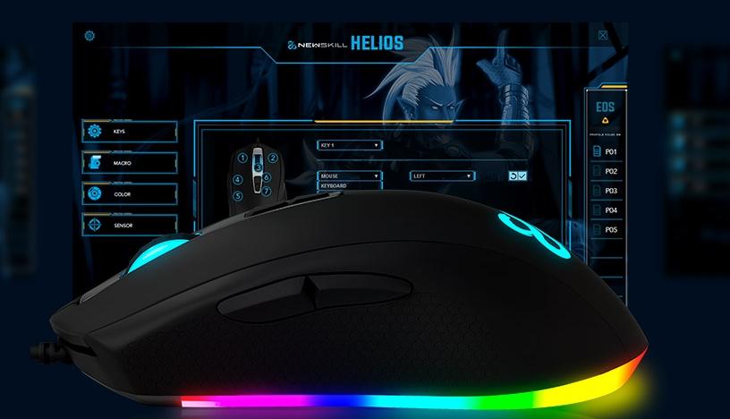 Ratón gaming Newskill Helios personalizable