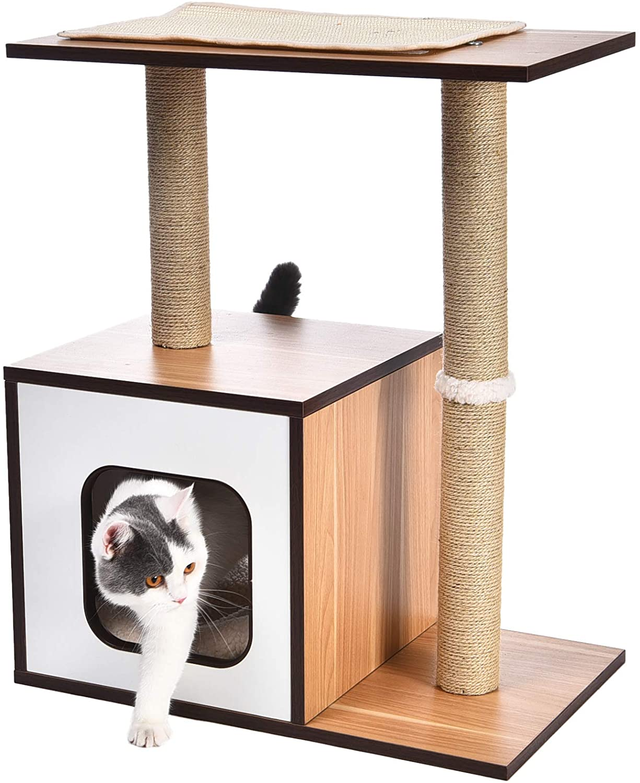 Árbol para gatos de madera AmazonBasics