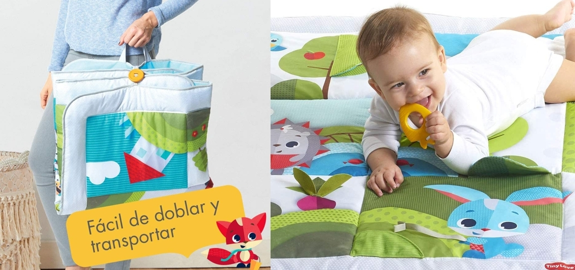 Manta para bebé Meadow Days de Tiny Love, detalles