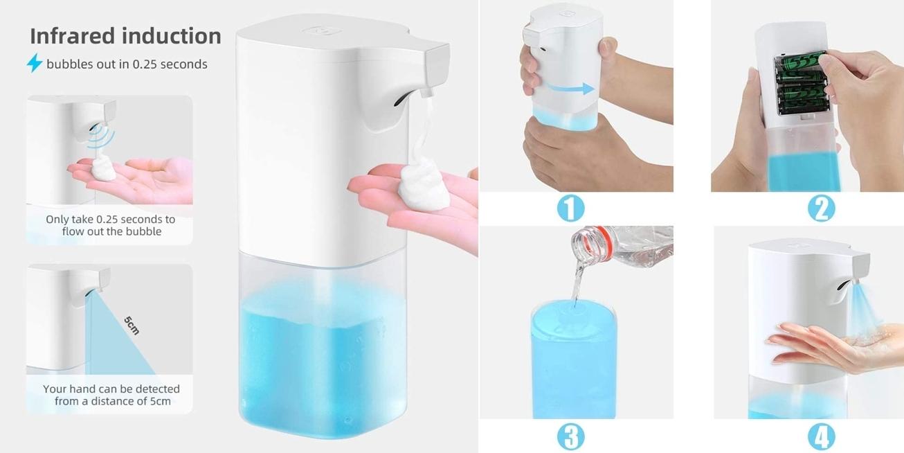 Dispensador automático de espuma de jabón Fansport detalles
