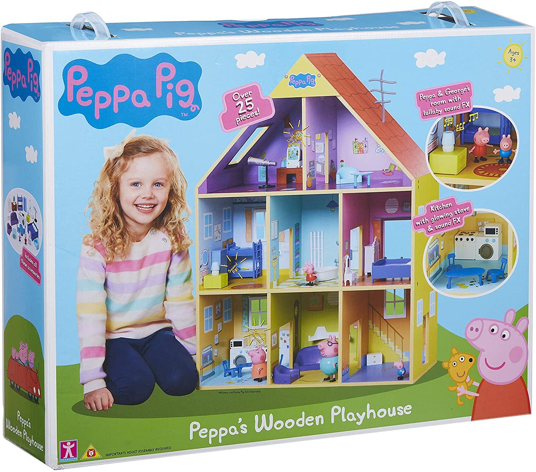 Casa gigante de madera Peppa Pig